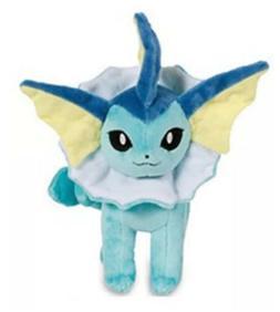 """Pokemon Vaporeon Eevee Evolution Plush Stuffed Animal Toy 8"""""""