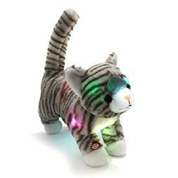 WEWILL LED Prance Cat Stuffed Animals Creative Glow Plush Ta