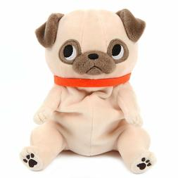 Pug Plush Toy Cute Stuffed Animal Plushie Standard Size Brow