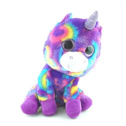 "Purple Unicorn Plush Stuffed Animals Pet Toys 11"" Seated M"