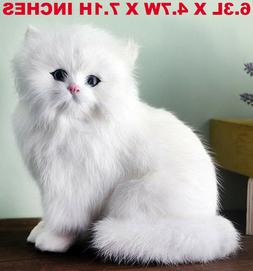 realistic persian cat pet plush kids
