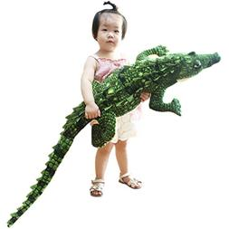 Jesonn Realistic Soft Plush Animals Stuffed Toys Crocodile f