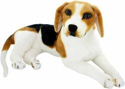 JESONN Realistic Stuffed Animals Beagle Dog Plush Toys 15.3