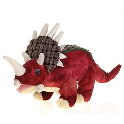 Fiesta Toys Red Triceratops Dinosaur Plush Stuffed Animal To