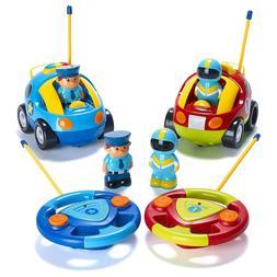 Remote Control Toy New Cartoon RC Police Race Car Radio Play