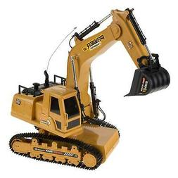 Remote Control Tractor Excavator Construction Toy RC Kids Pl