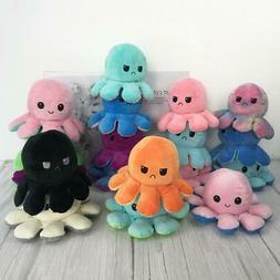 Reversible Flip octopus Plush Stuffed Toy Soft Animal Home A