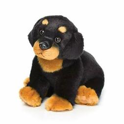Nat and Jules Sitting Small Rottweiler Dog Children's Plush