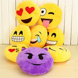 Round Cushion Soft Emoji Emotion Stuffed Plush Toy Pillow Do
