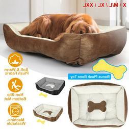 S M Size Pet Dog Puppy Cat Fleece Cozy Warm Nest Bed House C