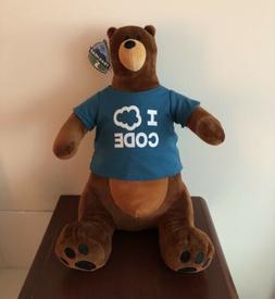 Salesforce TrailheaDX 2017 Codey The Bear Plush Toy NWT