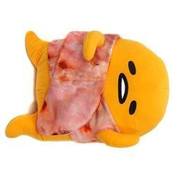 """FuRyu Sanrio Gudetama Lazy Egg Wrapped In Bacon 12"""" Plush -"""