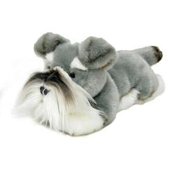 "Schnauzer dog soft plush toy 11""/28cm Scoobie by Bocchetta N"