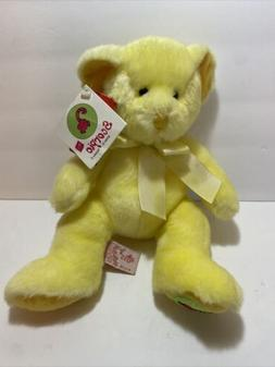 Russ Scorpio Teddy Bear Zodiac Yellow Stuffed Animal Plush T
