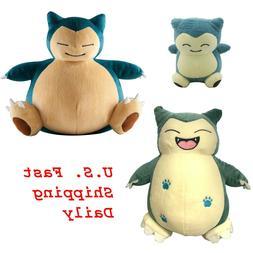 """Set 3 Pokemon Snorlax 6"""" Small and 10"""" Large Plush Doll Stuf"""