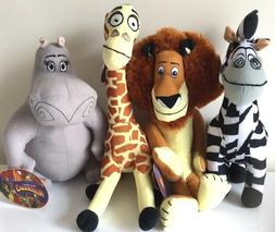 """Set of 4 Toys Madagascar 3 Large Asst. 12-15""""  Licensed Plus"""