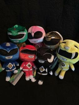 Set Of 7 Funko Power Rangers Plush Toy Red, White, Blue,Gree