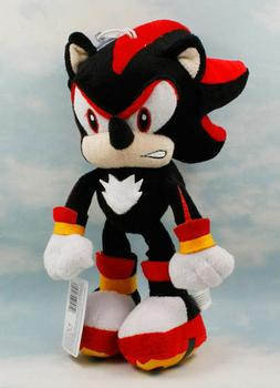 Shadow Sonic The Hedgehog Soft Plush Toy Stuffed Doll Black