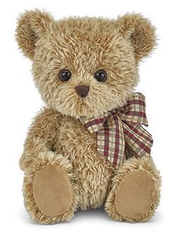 "Bearington Shaggy Plush Stuffed Animal Brown Teddy Bear, 12"""