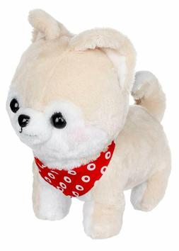 Amuse Shiba Inu Dog Plush Toy Cream with Red Bandana 13.5""