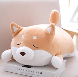 Shiba Inu Dog Soft Plush Throw Pillow Lifelike Animal Pillow