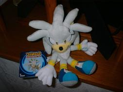 """SILVER SONIC The Hedgehog TOMY 8"""" Plush with Tags New U.S."""