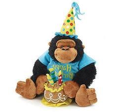 singing happy birthday plush monkey 12 inch