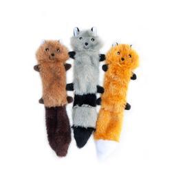 ZippyPaws - Skinny Peltz No Stuffing Squeaky Plush Dog Toy,