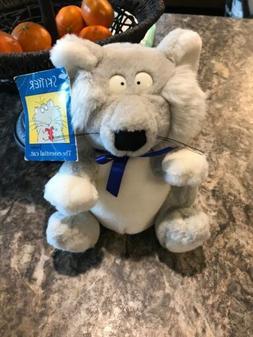 Skitter Cat Plush Toy Sandra Boynton 1994 Gund Grey with Blu