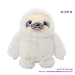 Winsterch Sloth Stuffed Animal Toy,Ivory Plush Sloth Toy Bab