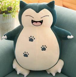 Smiley Snorlax Pokemon Plush Stuffed Animal Doll Figure 10''