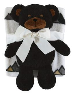 Stephan Baby Snuggle Fleece Crib Blanket and Plush Toy Set A