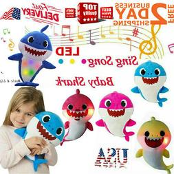 Soft Baby Shark Plush LED Singing Plush Toys Music Doll Engl