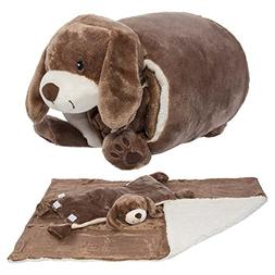 Snuggle Me Sherpa Large Soft Baby Blanket & Plush Pillow Stu