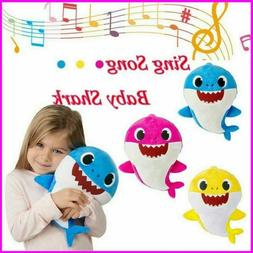 Soft Dolls Baby Shark toy with Music Sound Cute Animal Plush