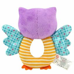 Soft Owl Animal Plush Doll Baby Rattle Toy Infant Toddler Gr