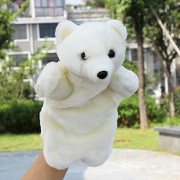 SOFT Polar Bear Animals Hand Puppets Plush Toy Role Play Dol