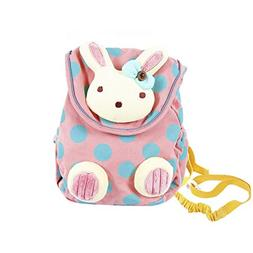 Labebe Toddler Backpack with Harness, Pink Backpack with Bun
