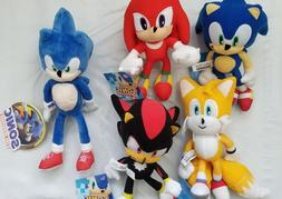 Sonic Stuffed Toy Figure Plush Set, Sonic Shadow Tails Knuck