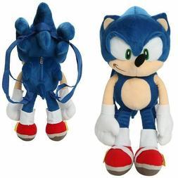 Large Sonic the Hedgehog Plush Backpack Stuffed Figure Doll