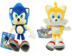 Sonic The Hedgehog Sonic and Tails Plush Doll Anime Stuffed