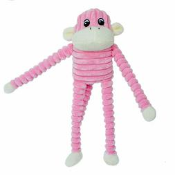 ZippyPaws - Spencer The Crinkle Monkey Dog Toy, Squeaker and