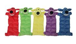 Multipet 12-Inch Squeaker Mat Soft Plush Dog Toy with 13 Squ
