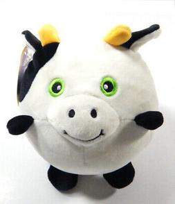 "Squee-Zoo-Balls 6"" Cow Squeeze Ball Plush Toy"