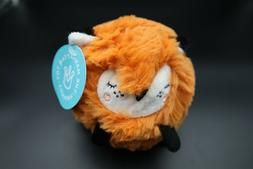 The Manhattan Toy Company SqueezeMeez Plush fox Ball Round t