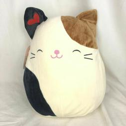 """Squishmallow 12"""" Plush Pillow Oliver the Calico Cat Heart St"""