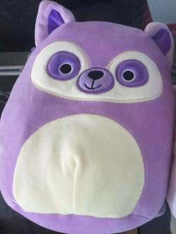 "Kellytoy Squishmallow 8"" Purple Raccoon Small Plush Doll Col"
