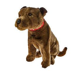 Bocchetta Plush Toys Staffordshire Terrier Sitting Staffy Do