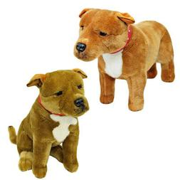 Staffy Bull Terriers  Stuffed Plush Toys Pack x 2 - Bocchett