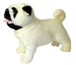 """ADORE 12"""" Standing Misfit the Farting Pug Dog Plush Stuffed"""